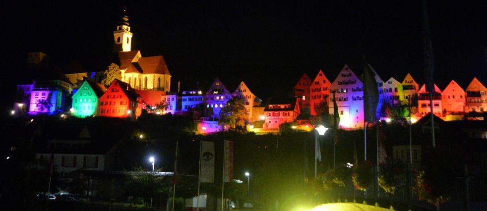 Stadtbeleuchtung bei der Langen Nacht der Lichter